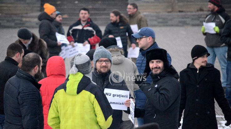 AZI, protest anticorupție la Satu Mare