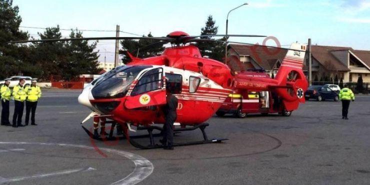 Bebeluș în stare gravă, transportat cu elicopterul SMURD la Cluj