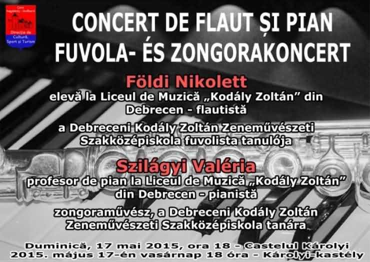 Concert de flaut si pian la Castelul din Carei