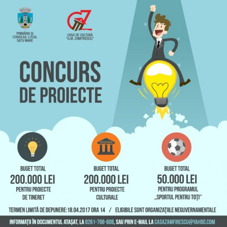 Finanțare nerambursabilă pentru proiecte culturale, sportive şi de tineret
