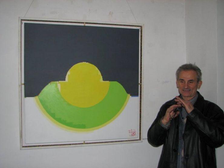 Expoziţie | Vasile Pop Negreșteanu expune picturi abstracte înţesate cu simboluri tradiţionale din ţinutul natal al Ţării Oaşului