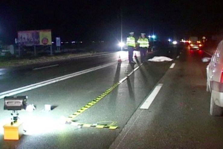 Accident mortal la Răteşti. Un șofer din Șandra a călcat mortal un bărbat culcat pe carosabil