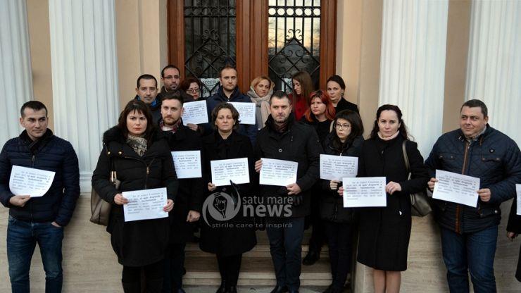 Magistrații sătmăreni au protestat față de modificarea Legilor Justiției, la ora 16:00