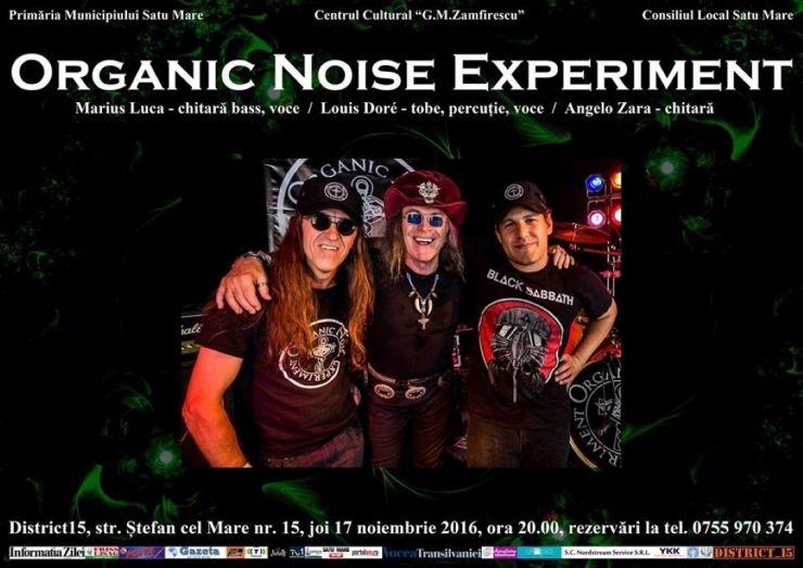 Concert rock cu trupa canadiană Organic Noise Experiment, la Distric 15