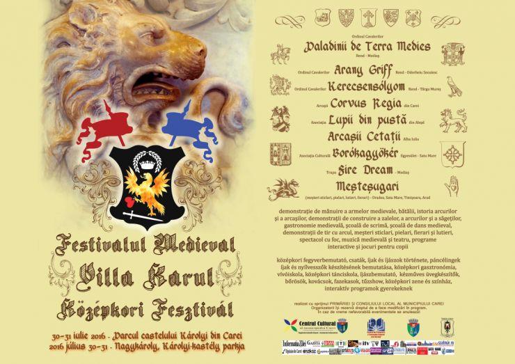 Festivalul Medieval Villa Karul, ediția a IV-a. Află programul