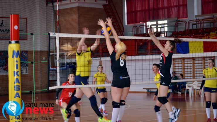 Volei: CSU Oradea 3 - 1 CSM Satu Mare
