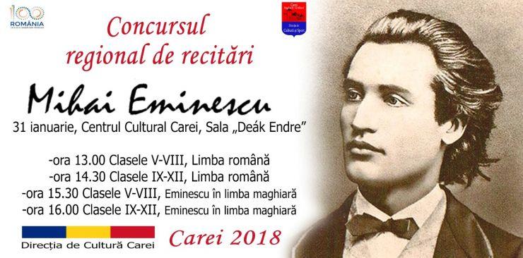 Poeziile lui Eminescu, recitate în română și maghiară