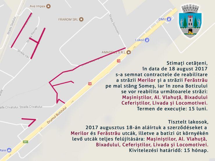 Opt străzi din municipiu intră în reabilitare
