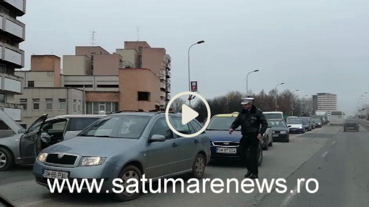Accident în Satu Mare, pe Podul Golescu