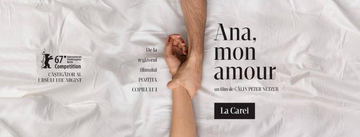 """Filmul """"Ana, mon amour"""", în sala """"Deák Endre"""" a Centrului Cultural Carei"""