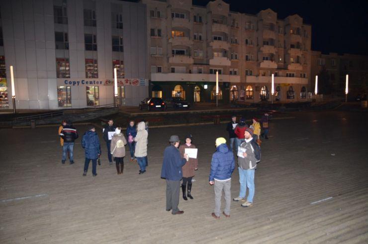 Doar 20 de sătmăreni au răspuns prezent protestului organizat în această seară  la Satu Mare