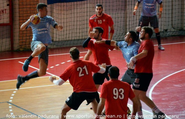 Handbal: Victorie la limită obținută de CSM Satu Mare în meciul cu U Cluj (Foto&Video)