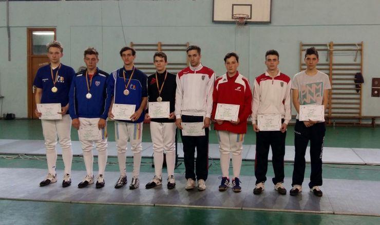 Medalie de aur pentru Marton Szep (CS Satu Mare) la Campionatul Național de spadă - juniori