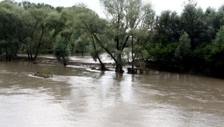 Depășiri ale cotelor de atenție pe unele râuri din județul Satu Mare