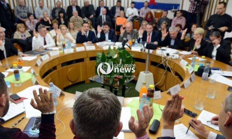 Consiliul Local al municipiului Satu Mare, convocat în ședință ordinară. Pe ordinea de zi, 37 de puncte
