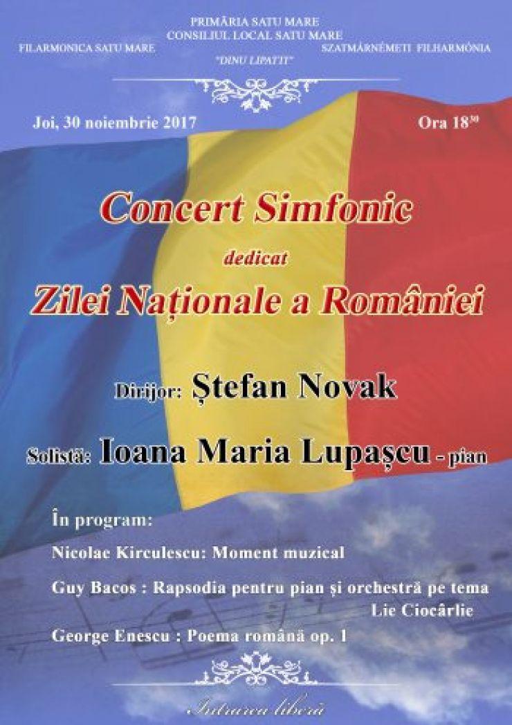 """Concert dedicat Zilei Naționale a României, la Filarmonica """"Dinu Lipatti"""""""