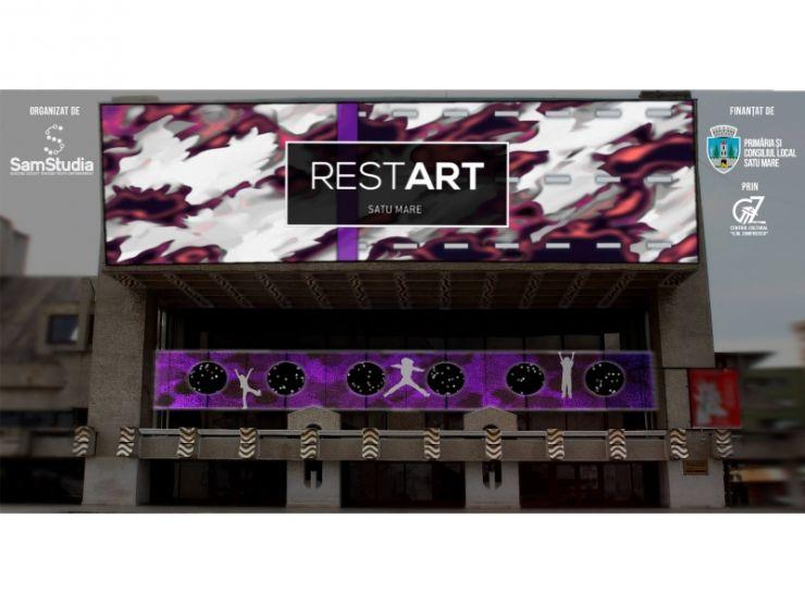 Proiecție video pe fațada Casei de Cultură a Sindicatelor