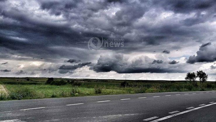 O nouă avertizare de furtună pentru județul Satu Mare