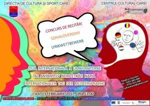 Concurs de recitări organizat cu ocazia Zilei Limbii Materne, la Carei