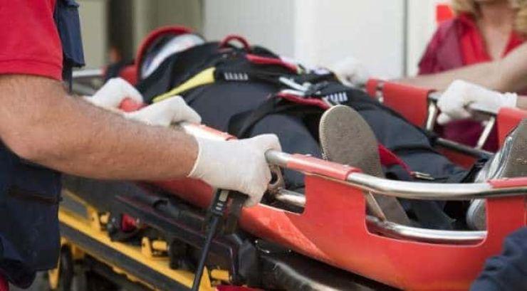 Accident de muncă. Un bărbat a fost tăiat în zona capului de o bucată de disc