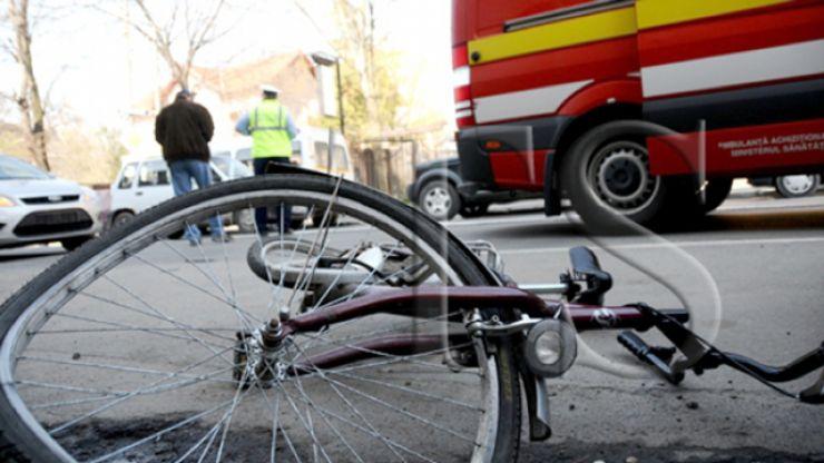 Biciclist rănit, în urma unui accident rutier