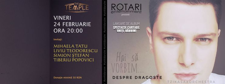 """Aldo Blaga dăruiește albumul """"Despre Dragoste"""" unei cauze nobile: Asociației Necuvinte"""