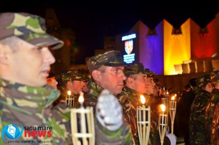 INEDIT. Detașamentele de militari din Satu Mare s-au retras cu torțe