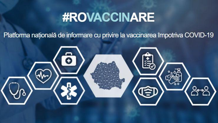 S-a lansat platforma #ROVACCINARE, platforma națională de informare cu privire la vaccinarea împotriva SARS-CoV-2