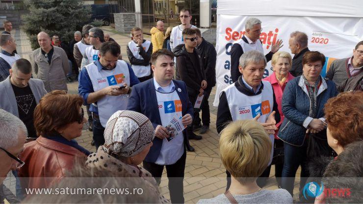 """Preşedintele Alianţei 2020 USR-PLUS, Dacian Cioloş: """"Satu Mare e o zonă foarte dinamică"""""""