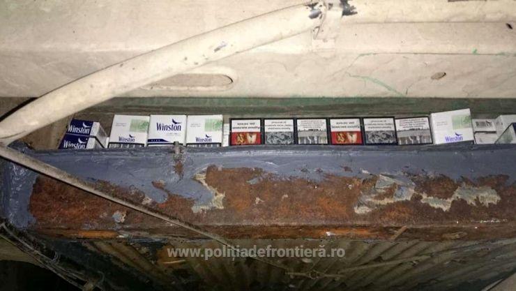 Ucrainean prins cu țigări de contrabandă în valoare de peste 15.000 lei