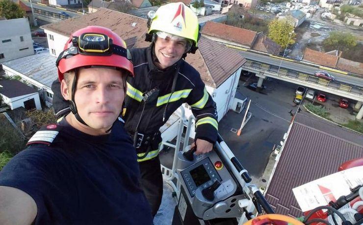 Pompierii sătmăreni, la înălțime (foto)