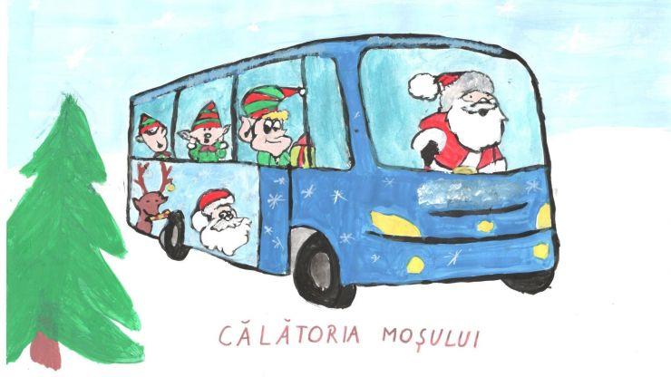 """Transurban SA vă invită să votați cel mai frumos desen cu tema """"Autobuzul Moșului"""""""