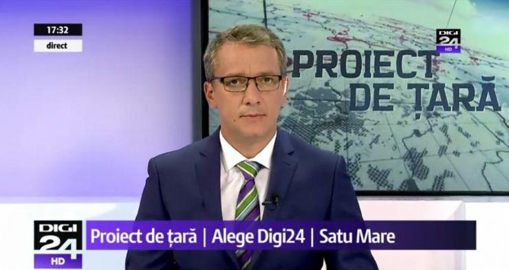 """Adrian Ștef nu a participat la emisiunea de la DIGI 24, motivând că a confirmat prezența la """"Medalionul cultural aniversar - Kereskényi Sándor"""""""