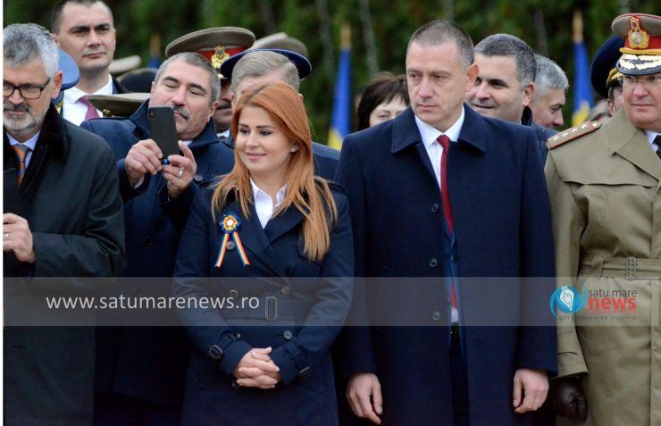Ministrul Apărării, Mihai Fifor, prezent la manifestările dedicate Zilei Armatei Române, de la Carei