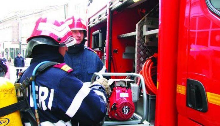 Incendiu la o firmă de pe str. Aurel Vlaicu