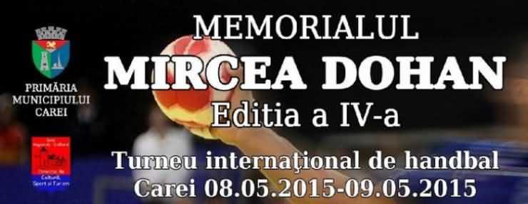 """""""Memorialul Mircea Dohan"""", la a patra ediție"""