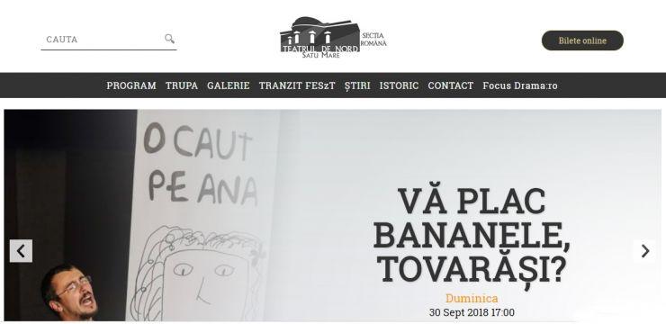 Teatrul de Nord și-a actualizat pagina web