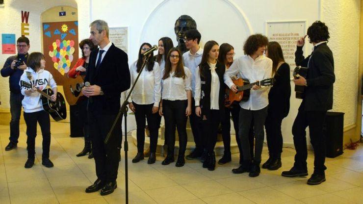 FOTO. Marele poet Mihai Eminescu, omagiat la Satu Mare