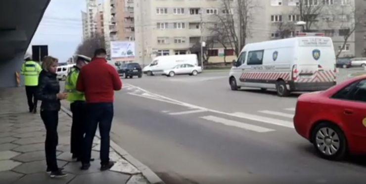 Pieton accidentat grav de un taximetru pe Bulevardul Transilvania