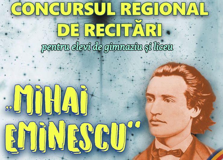 """Concurs regional de recitări """"Mihai Eminescu"""""""