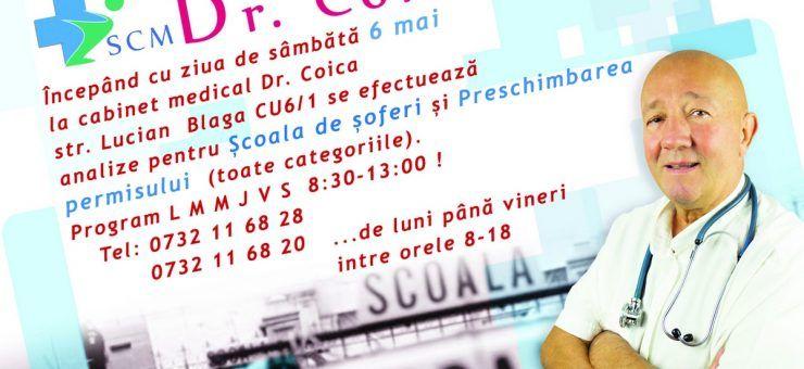 Anunţuri de specialitate la SCM Dr. Coica