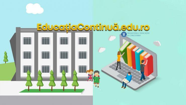 Ministerul Educației și Cercetării a lansat portalul de informare educatiacontinua.edu.ro