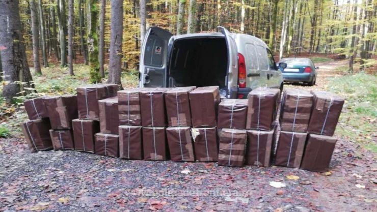 Polițiștii sătmăreni au capturat colete voluminoase cu țigări de contrabandă