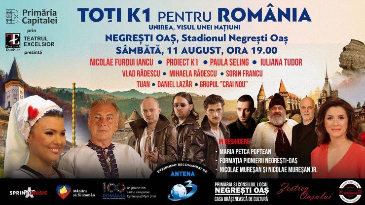 Spectacol, la Negrești Oaş: Toți K1 pentru România