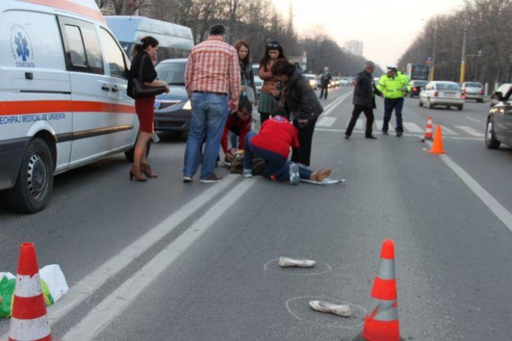 Un pieton a murit după ce a traversat neregulamentar strada