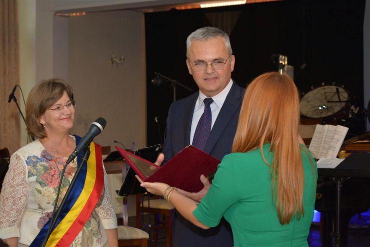 Vicecampionul olimpic Ioan Șnep, cetățean de onoare al Negreștiului. Titlul i-a fost decernat de ministrul Ioana Bran