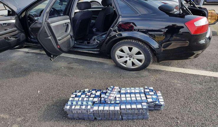 Captură impresionantă de țigări de contrabandă (foto)