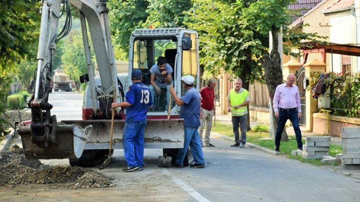 Lucrări de modernizare a străzilor și trotuarelor din 14 Mai