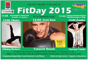 """Ziua """"Fitday 2015 - Cea mai mișcată zi din an"""", la Carei"""