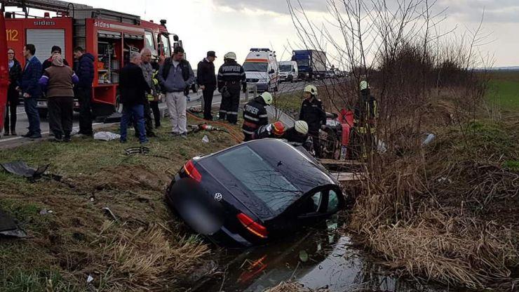 Concluziile polițiștilor în cazul accidentului rutier grav de lângă Medieșu Aurit